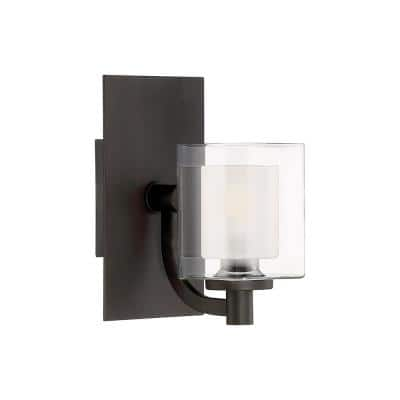 Kolt 1-Light Western Bronze Wall Sconce