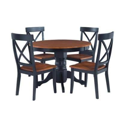 Black Dining Room Sets Kitchen, Small Round Black Kitchen Table And Chairs
