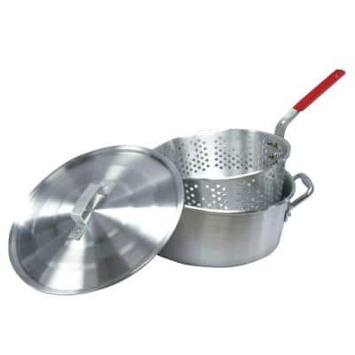10.5 qt. Aluminum Fryer Pot with Strainer