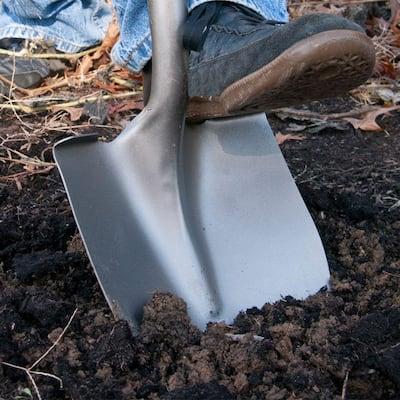 Wood Handle Digging Shovel