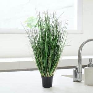 24 in. Tall Artificial Grass Plant Onion Grass in Pot