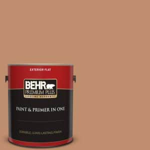 Behr Premium Plus 1 Gal 260f 5 Applesauce Cake Flat Exterior Paint And Primer In One 440001 The Home Depot