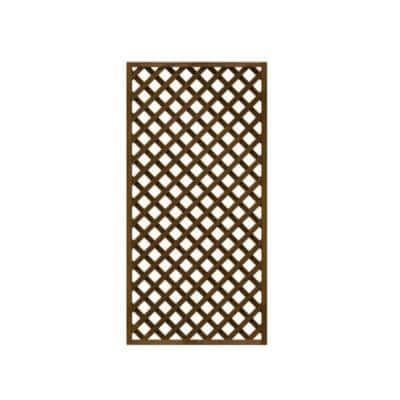 36 in. x 72 in. Wood Trellis Lattice Screen Privacy Fence (Set of 3-Pieces)