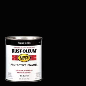 1 qt. Protective Enamel Gloss Black Interior/Exterior Paint (2-Pack)