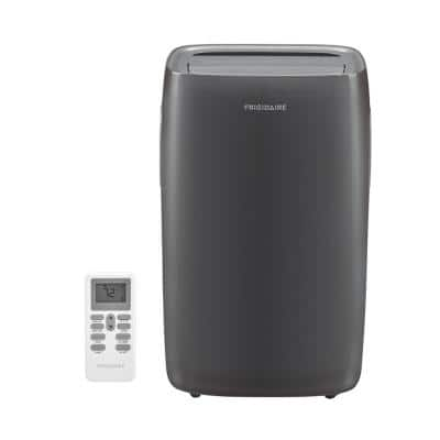 12,000 BTU 3-Speed Portable Air Conditioner with Dehumidifier in Gray