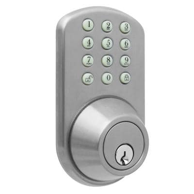 Single Cylinder Satin Nickel Electronic Touch Pad Deadbolt