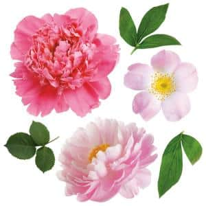 Large Flower Peel and Stick Wall Decals (set of 22)