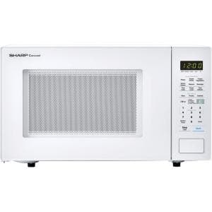Carousel 1.4 cu. ft. 1000W Countertop Microwave Oven in White (ISTA 6 Packaging)
