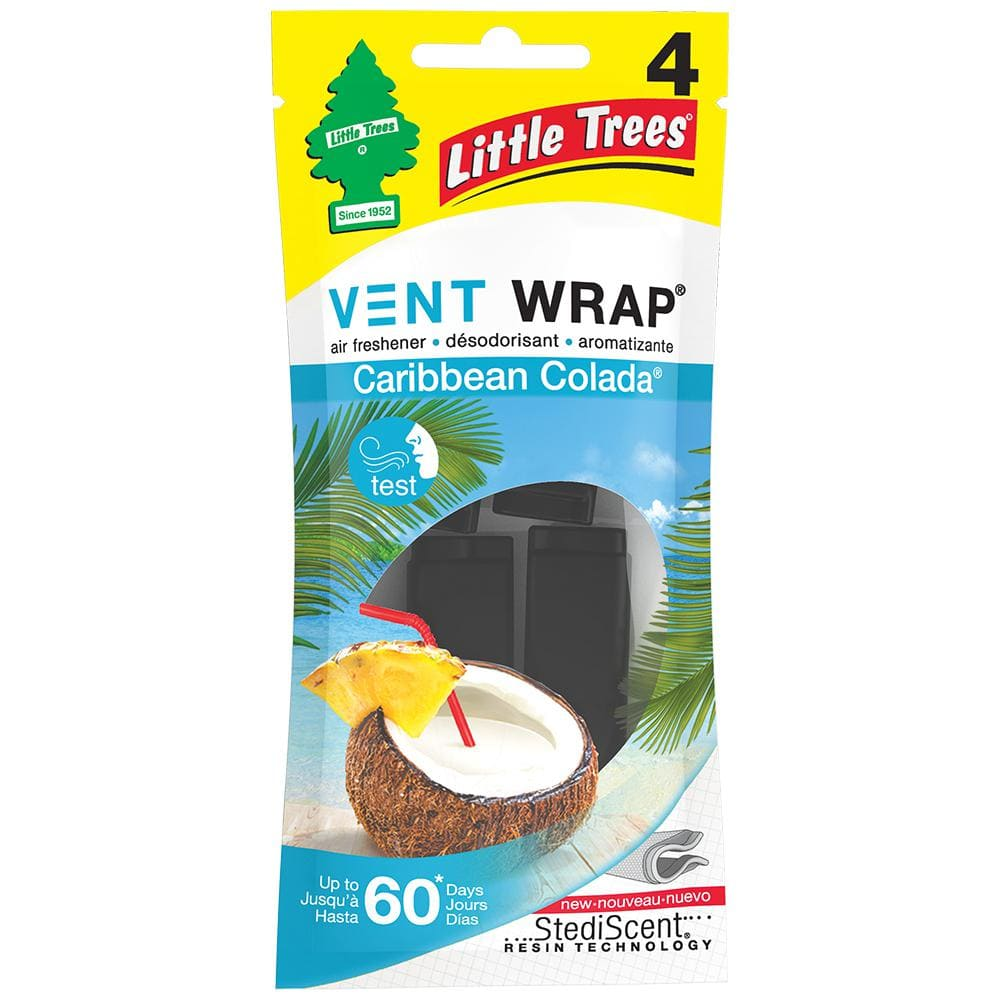 Little Trees Caribbean Colada Vent Wrap Air Freshener (4-Pack)