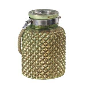 Light Green Hobnail Design Candle Lantern