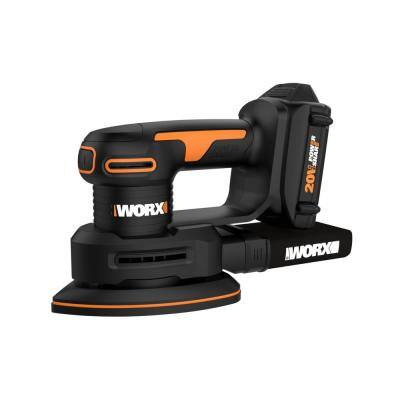 POWER SHARE 20-Volt Cordless Detail Sander with Finger Sanding Attachment (2ah Battery & Charger Included)
