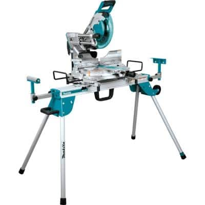 15 Amp 12 in. Dual-Bevel Sliding Compound Miter Saw with Laser and Stand