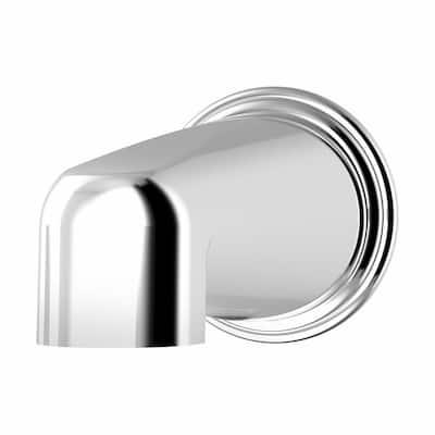 Elm Non-Diverter Tub Spout in Polished Chrome