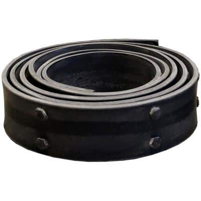 1/4 in. x 3 in. x 12 ft. Flexible Black Beam Strap with Bolts for Faux Wood Beams