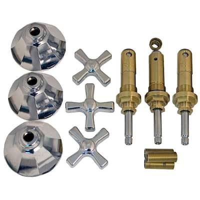 Tub and Shower Rebuild Kit for American Standard Nu-Renu 3-Handle Faucets