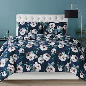Mags Floral 3 Piece Full/Queen Comforter Set