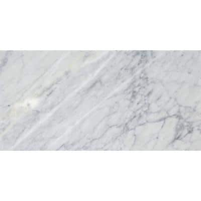 Marble Bianco Gioia Honed 12.01 in. x 24.02 in. Marble Floor and Wall Tile (2 sq. ft.)