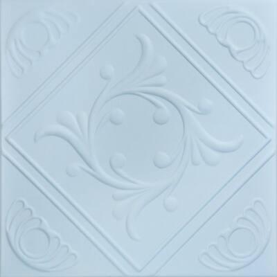 Diamond Wreath 1.6 ft. x 1.6 ft. Glue Up Foam Ceiling Tile in Breath of Fresh Air