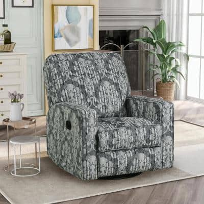 Multicolor 360° Swivel and Rocking Recliner Chair with Padded Seat