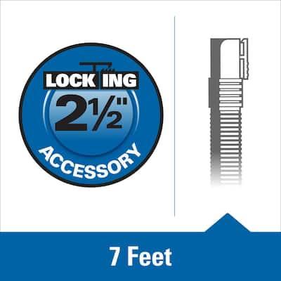 2-1/2 in. x 7 ft. Dual-Flex Tug-A-Long Locking Vacuum Hose for RIDGID Wet/Dry Shop Vacuums