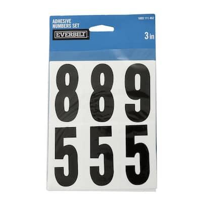 3 in. Self-Adhesive Vinyl Number Set