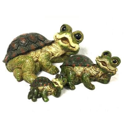 7 in. H Whimsical Turtle Rain Gauge Home and Garden Figurine