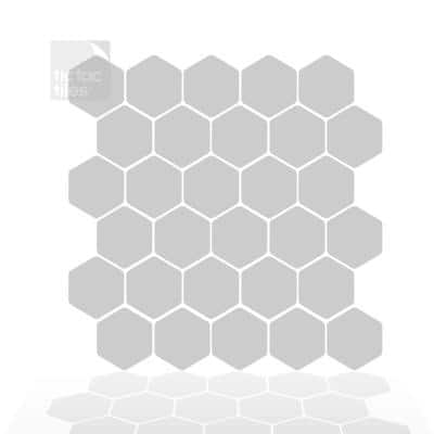 Hexa Gray 12 in. W x 12 in. H Peel and Stick Self-Adhesive Decorative Mosaic Wall Tile Backsplash (12-Tiles)
