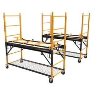 6 ft. Multi-Purpose 4-in-1 Scaffold Bench, Workbench, Storage System and Cart (2-Pack)