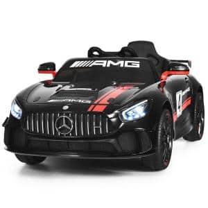 Mercedes Benz AMG Licensed 12-Volt Black Kids Ride On Car with 2.4G Remote Control