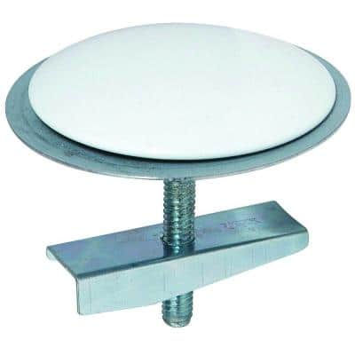 2 in. Diameter Sink Hole Cover with Bolt and Wing Nut in White