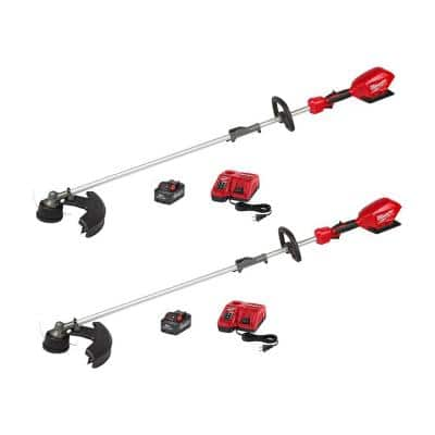 M18 FUEL 18-Volt Lithium-Ion Brushless Cordless QUIK-LOK String Trimmer Kit with Two 8.0 Ah Batteries (2-Tool)