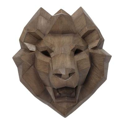 Faux Lion Head Wall Decor