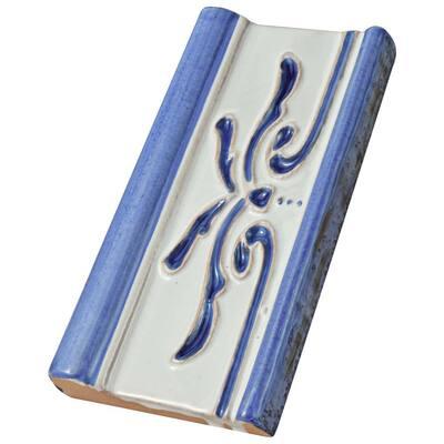 Novecento Cenefa Evoli Cobalto 2-5/8 in. x 5-1/8 in. Ceramic Wall Trim Tile
