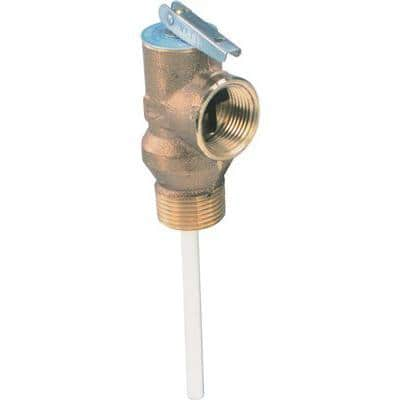 100 x l 3/4 in. Temperature and Pressure Relief Valve with 4 in. Shank Lead free