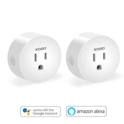 Wi-Fi Smart Plug Outlet, Remote App Control, Compatible with Alexa and Google Assistant, ETL Listed (2-Pack)