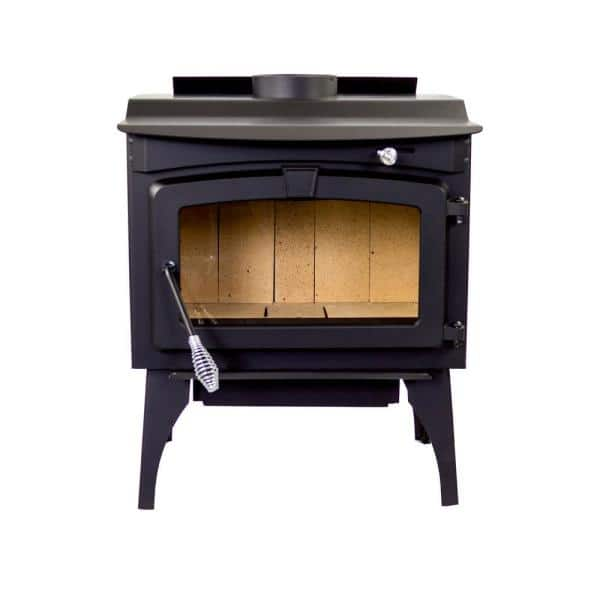 Pleasant Hearth Medium 1 800 Sq Ft 2020 Epa Certified Wood Burning Stove With Legs And Blower Gws 1800 B The Home Depot