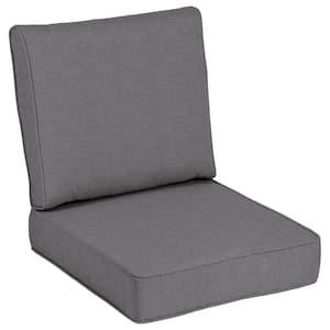 24 x 24 Sunbrella Cast Slate Outdoor Lounge Chair Cushion