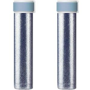 Skinny 8 fl. oz. Blue Stainless Steel Glitter Water Bottle (2-Pack)