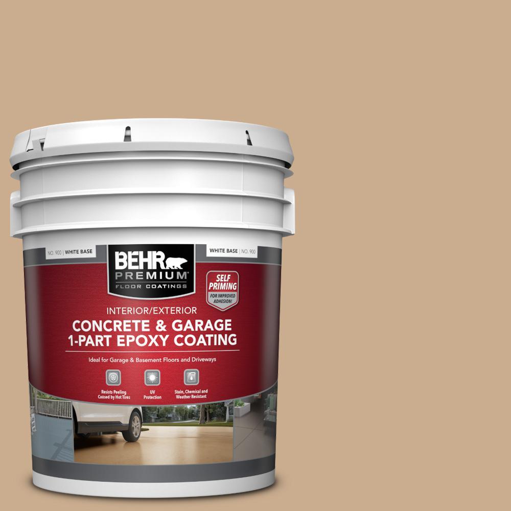 5 Gal. #PFC-23 Tan Self-Priming 1-Part Epoxy Satin Interior/Exterior Concrete and Garage Floor Paint