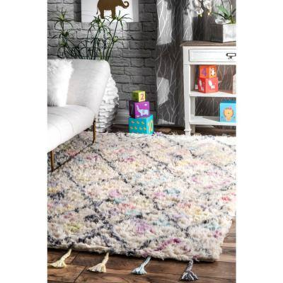 Annice Moroccan Modern Shag Off White 7 ft. x 9 ft. Area Rug