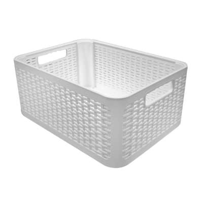 Decorative Storage Box in White