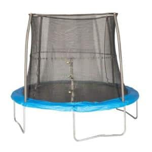 10 ft. Outdoor Trampoline and Safety Net Enclosure, Blue : JK10VC1