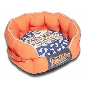 Medium Orange and Ocean Blue Bed