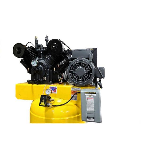 Emax Industrial Series 80 Gal 7 5 Hp 1 Phase Electric Air Compressor With Pressure Lubricated Pump Hi07v080v1 The Home Depot