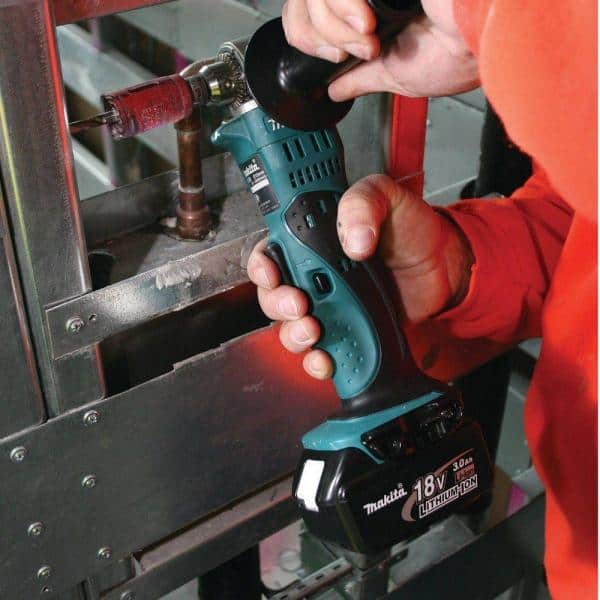 Makita 18 Volt Lxt Lithium Ion 3 8 In Cordless Angle Drill Tool Only Xad01z The Home Depot