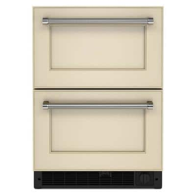 24 in. 4.29 cu. ft. Undercounter Double Drawer Refrigerator Freezer in Panel Ready
