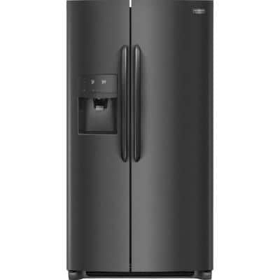 25.6 cu. ft. Side by Side Refrigerator in Black Stainless Steel