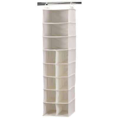 10-Pocket 3 Shelf Canvas Hanging Organizer