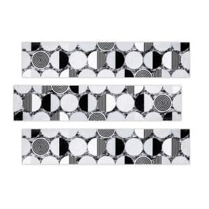 Marfil 2.5 in. x 12 in. Black White and Grey Multicolor Ceramic Decorative Listello Wall Tile  (3-Pack)