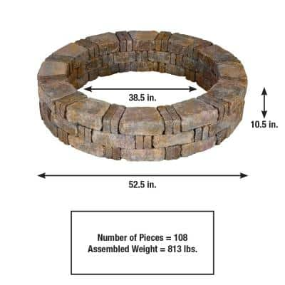RumbleStone 52.5 in. x 10.5 in. Tree Ring Kit in Sierra Blend
